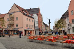 Small town Fussen in Bavaria, Germany Stock Image