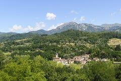 Small town in Garfagnana (Tuscany) Royalty Free Stock Images