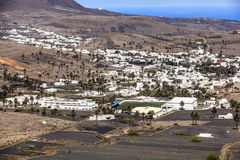 Small town of Haria in Lanzarote Royalty Free Stock Image