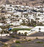 Small town of Haria in Lanzarote stock images