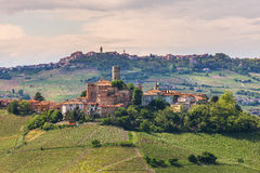 Small town on the hill in Italy. Royalty Free Stock Photo