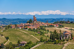 Small town on the hills of Piedmont, Italy. Stock Photography