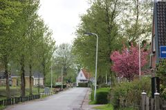Small town in Holland royalty free stock image