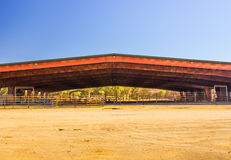 Small Town Horse Arena. Horse Pavilion In Small Town Royalty Free Stock Photography