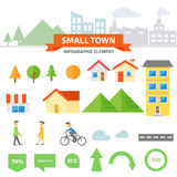 The small town Infographic elements presentation templates Abstract flat design set for brochure flyer leaflet marketing. The small town template presentation Royalty Free Stock Images