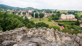 Small town interiors and outdoors in Poland Royalty Free Stock Photos