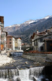 Small town in Italy. With stony river Stock Photography