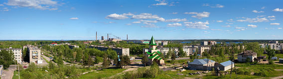Small town in Karelia Royalty Free Stock Image