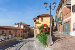 Small town of La Morra, Italy. Stock Image