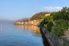 Small town on Lake Como in Italy. Stock Photos