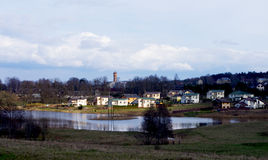 Small town by the lake Royalty Free Stock Photography