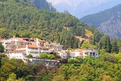Small town of Litohoro in Greece Stock Photo