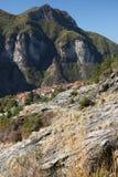 Alpi Apuane, Massa Carrara, Tuscany, Italy. Panoramic view of th royalty free stock images