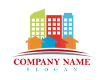 Small town logo. Smal town logtype on white background royalty free illustration