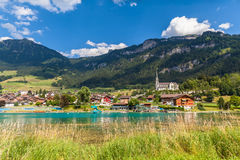 Small town Lungern in Switzerland stock photo