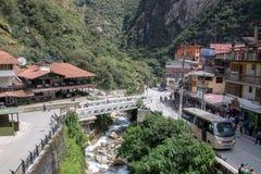 The Tiny Town of Machu Picchu. The small town of Machu Picchu, Peru stock photos