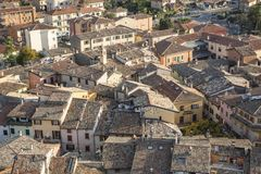 The small town of Malcesine near lake Gardasee Royalty Free Stock Photo