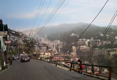 Small town of Manali. Traveling in Manali and enjoying beautiful view royalty free stock images