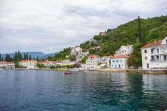 Small town on the Mediterranean sea Royalty Free Stock Photography