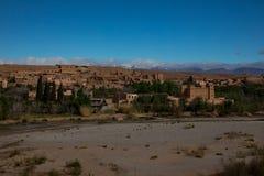 Small Town in Morocco. Near Desert Stock Photos