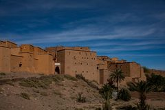 Small Town in Morocco. Near Desert Stock Photography
