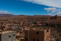 Small Town in Morocco. Near Desert Royalty Free Stock Image