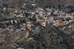 A small town in the mountains. In Gomera Island Royalty Free Stock Photo