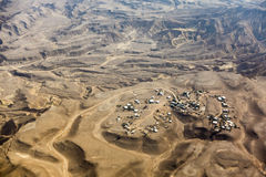 Small town on Negev desert seen from above, Israel Stock Images