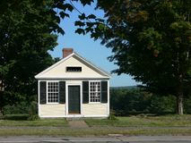 Small town: office building. Facade of historic office building in small country town Stock Photo