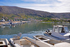 The small town of Pag, Croatia royalty free stock image