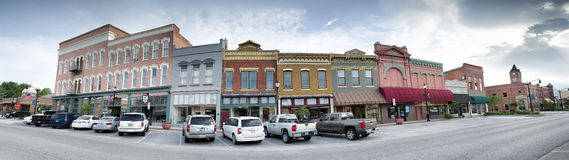 Small Town Panorama Royalty Free Stock Images