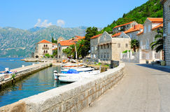 Small town of Perast in Montenegro Royalty Free Stock Photo