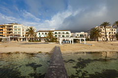 The small town Port de Pollenca in northern Majorca - Spain. Stock Photos