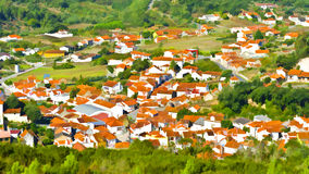 Small Town in Portugal Royalty Free Stock Photography
