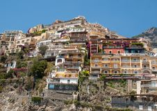 Small town of Positano along Amalfi coast Stock Image