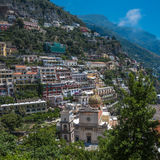 Small town of Positano, Amalfi Coast, Campania, Italy Royalty Free Stock Images