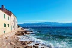 Small town Postira on Brac island - Croatia Stock Photo