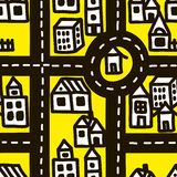 Small town roads seamless pattern. Stock Images