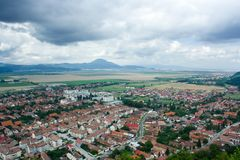 Small town in Romania. Aerial view of a small town in Romania Stock Images