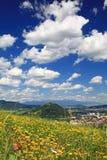 Small town Ruzomberok, Slovakia Stock Photo