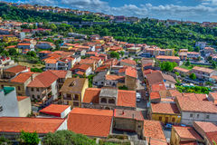 Small town seen from above in Sardinia Stock Images