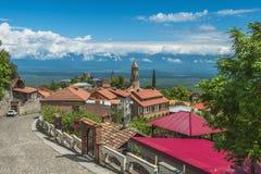 Small town Signagi, Kakheti region, Georgia Royalty Free Stock Photos