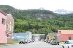 Small town of Skagway Alaska stock photography