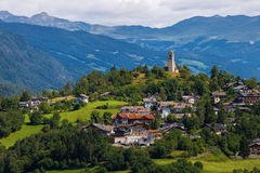 Small town in South Tyrol Stock Images