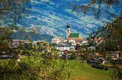 Small town in South Tyrol Royalty Free Stock Image