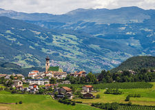 Small town in South Tyrol Stock Photo