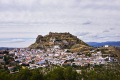 Small town at Spanish countryside Royalty Free Stock Photos