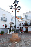 Small town square, Comares. Stock Photo