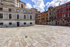 Small Town Square in Venice, Italy Stock Photos