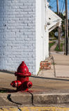 Small town street fire hydrant Stock Images